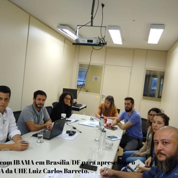 Reunião com IBAMA/DF para apresentar o PACUERA da UHE Luiz Carlos Barretos.